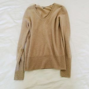 Halogen Tan Cashmere Sweater